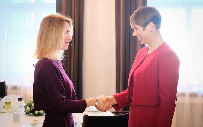 Кая Каллас (слева) и Керсти Кальюлайд.
