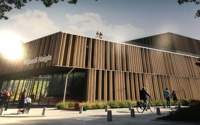 Viljandi haigla ja tervisekeskuse ideekavand, arhitektuuribüroo DAGOpen võidutöö.