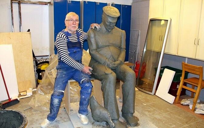 В мае Лембит Онтон закончит моделировать скульптуру, после чего приступит к процессу отливки в бронзе.