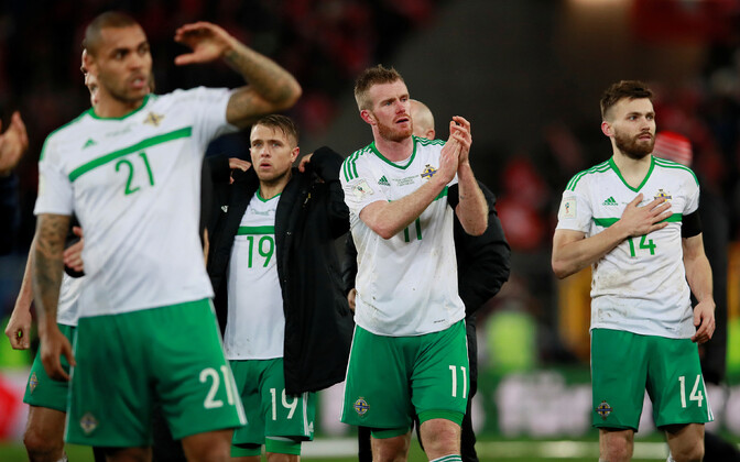 Põhja-Iirimaa jalgpallikoondis 2018. aasta MM-valiksarja kohtumises Šveitsi vastu