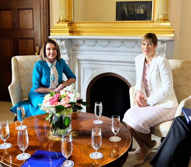 Speaker Nancy Pelosi and President Kersti Kaljulaid in Washington on Wednesday. 13 March 2019. Source Office of the President