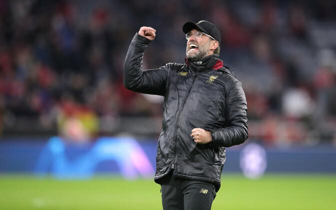 Jürgen Klopp tähistamas võitu Bayerni üle