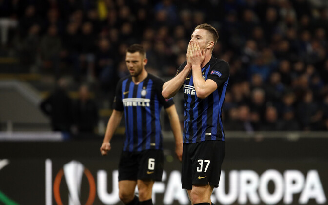Internazionale mängijad pärast kaotust Salzburgile