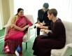 Встреча с президентом Непала Бидхьей Деви Бхандари.