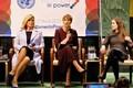 Обсуждение роли женщины в управлении в зале Генеральной ассамблеи ООН.