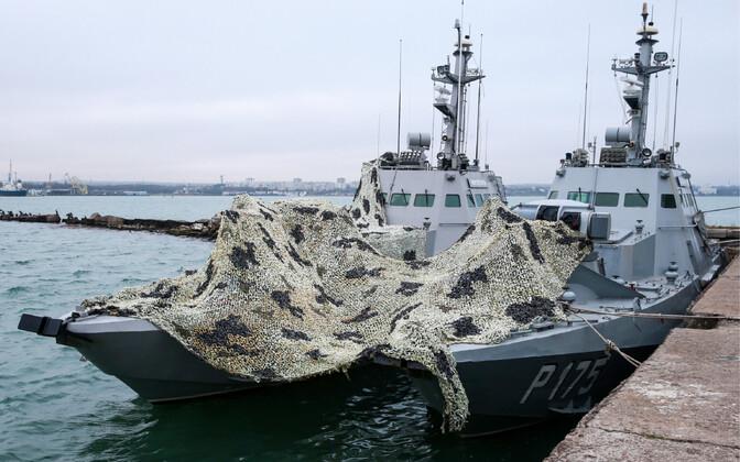Ukraina sõjaväealused Nikopol ja Berdyansk, mille Vene merevägi Kertši intsidendis konfiskeeris.