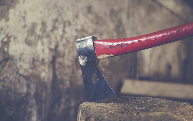 Несчастные случаи в Эстонии часто происходят в бытовых ситуациях, например, при колке дров.