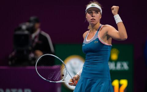 Estonian tennis star Anett Kontaveit (WTA 19).