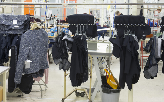 Garment production in Baltika, which employs over 300 at two locations in Estonia.
