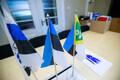 EKRE fraktsiooni laual on muuhulgas ka piirivalve lipp.