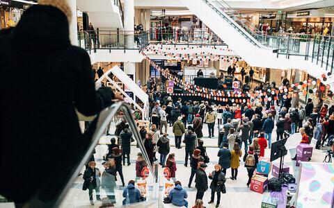 Одна из площадок бесплатных концертов на TMW - торговый центр Viru Keskus