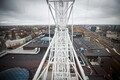 The new Ferris wheel on the roof of the T1 Mall of Tallinn. 18 March 2019.