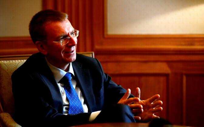 Läti välisminister Edgars Rinkevics.