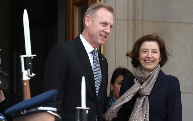 USA kaitseministri kohusetäitja Patrick Shanahan ja Prantsuse kaitseminister Florence Parly.