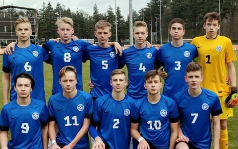 Юные эстонские футболисты оказались бессильны перед французами.