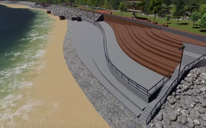 An artist's visualisation of the new beach promenade in Sillamäe.
