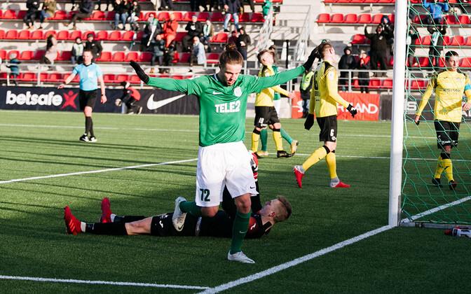 Herol Riiberg FC Flora mängus Viljandi Tuleviku vastu