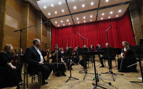 Tartu Ülikooli sümfooniaorkester Eesti Raadio 1. stuudios