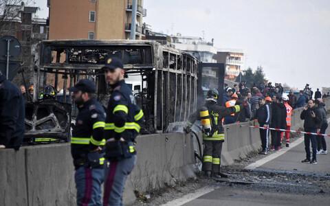 Полиция Италии на месте происшествия.