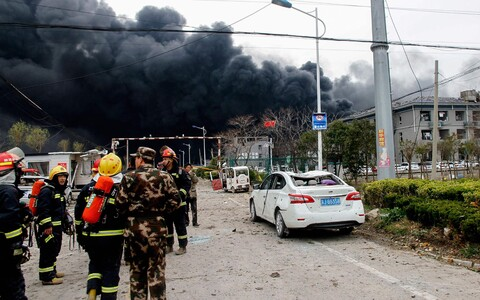 В четверг на химзаводе в провинции Цзянсу прогремел взрыв.