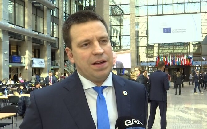 Prime Minister Jüri Ratas (Centre) at the European Council in Brussels on Friday. 22 March 2019.