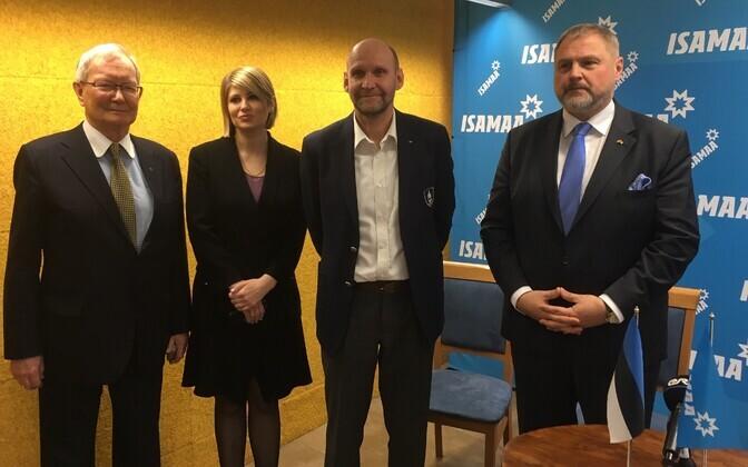 MEP Tunne Kelam, Viktoria Ladõnskaja-Kubits, Isamaa chairman Helir-Valdor Seeder and Gen. Riho Teras.