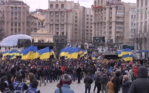 На Майдане Незалежности митинг протеста против коррупции