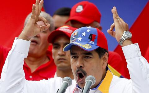 Президент Венесуэлы Николас Мадуро на митинге в Каракасе 24 марта.