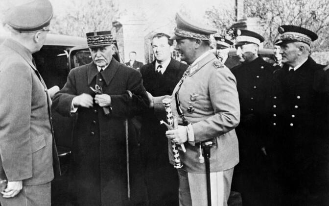 Vichy juht Philippe Pétain kohtumas 1941. aastal koos Hermann Göringiga.