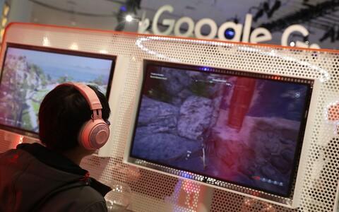 Google Stadia boks San Francisco mänguarendajate konverentsil.
