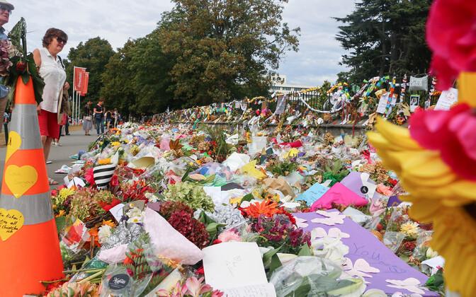 Lilled Christchurchi tulistamise ohvrite mälestuseks.