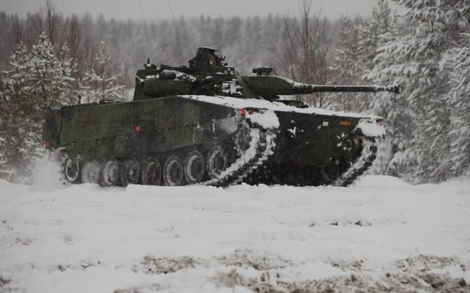 Rootsi relvajõudude jalaväe lahingumasin CV90.