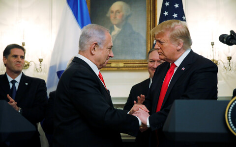 Benjamin Netanyahu ja Donald Trump 25. märtsil Washingtonis.