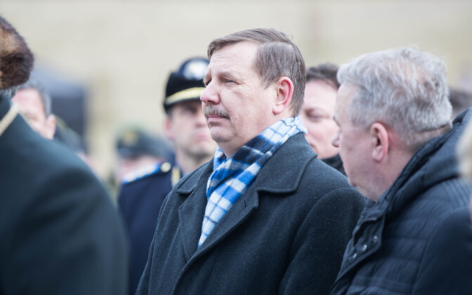 Mayor Taavi Aas (Centre), pictured at the recent March deportations memorial ceremonies in Tallinn.