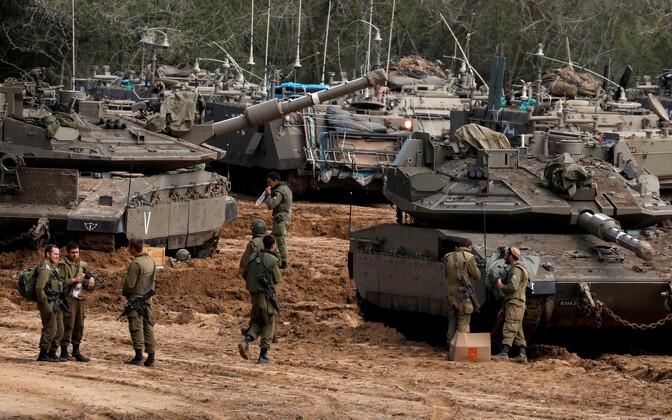Танки на границе с сектором Газа.