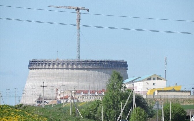 Astravetsi tuumajaama ehitamine 2015. aastal.
