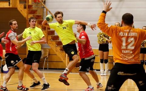 HC Tallinna mängujuht Uku-Tanel Laast viskas küll Põlva Serviti võrku kaheksa palli, aga tiitlikaitsja sai 27:21 võidu