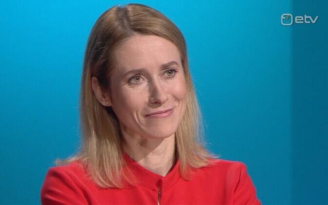 Kaja Kallas on ETV, 26 March 2019.