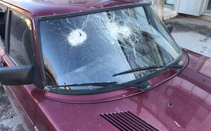 Kalamaja gruppi postitatud fotod viimastel päevadel piirkonnas vandaalidele ette jäänud autodest.