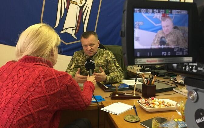 Астрид Каннель берет интервью у Николая Билосвита.