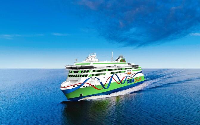 Tallinki uus kavandatav süstiklaev.