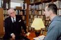 President Lennart Meri, intervjueerib Riho Västrik. 2000