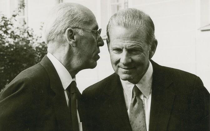 Eesti välisminister Lennart Meri, USA riigisekretär James Baker. 1991