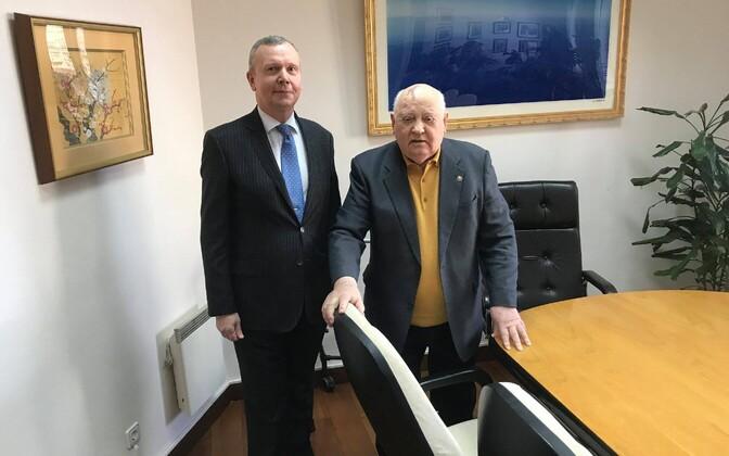 Suursaadik Laidre ja Mihhail Gorbatšov