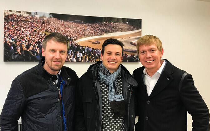 Vasakult Urmo Aava, Peter Enckell ja Tarmo Hõbe.