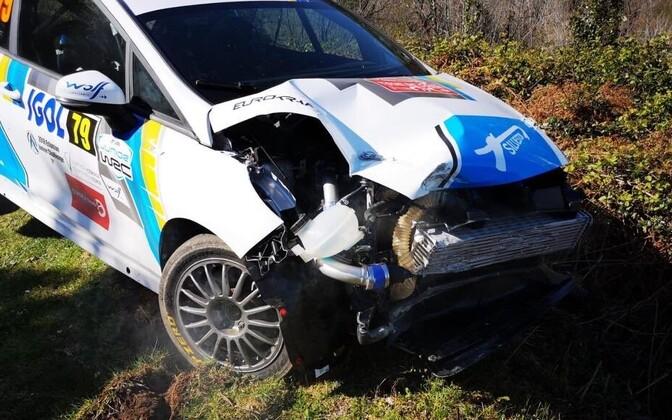Ken Torni Ford Fiesta pärast neljapäevast avariid