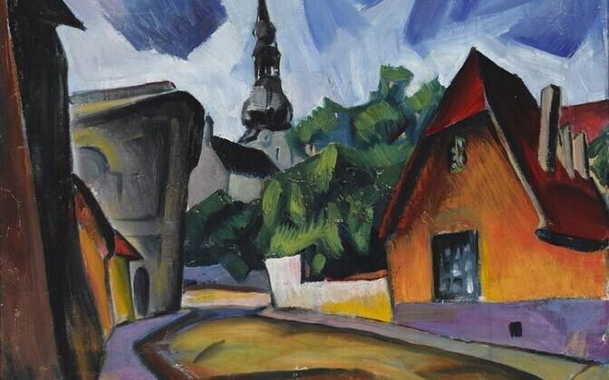 Пеэт Арен. Улица. 1920.