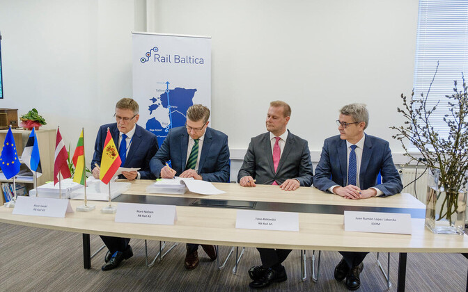 Rail Baltic project contract signing.