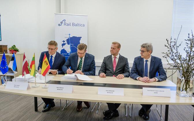 Rail Balticu projekteerimislepingu allkirjastamine.