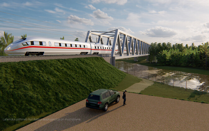 Render of a Rail Baltica train.